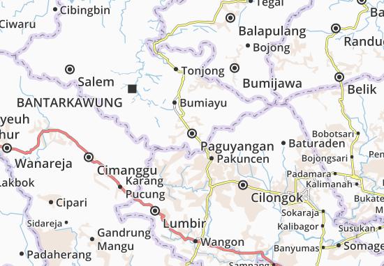 Paguyangan Map