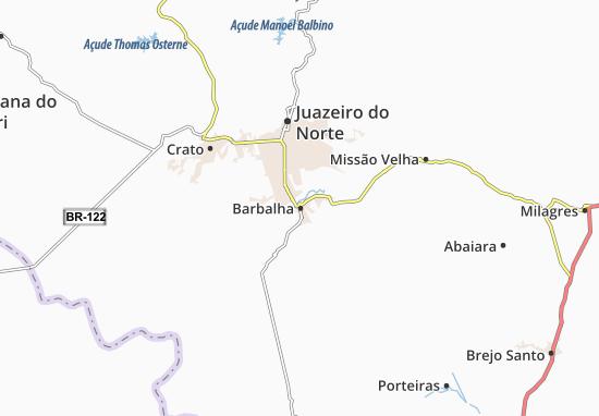 Map Of Barbalha Michelin Barbalha Map ViaMichelin - Crato map