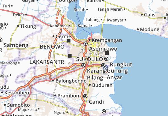 Wiyung Map