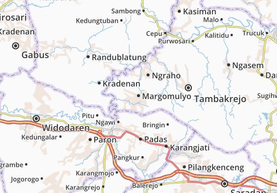 Margomulyo Map