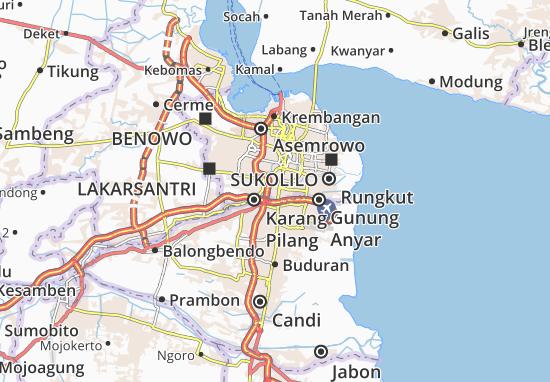 Gayungan Map
