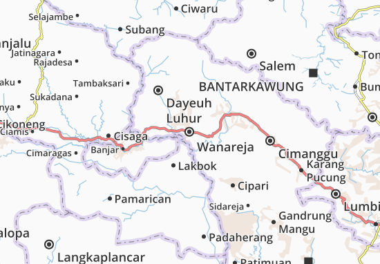 Wanareja Map