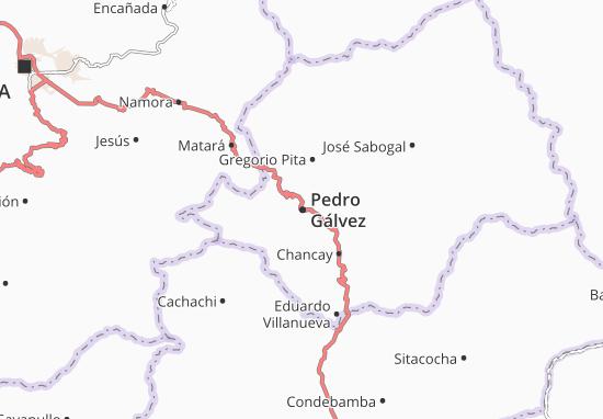 Carte-Plan Pedro Gálvez