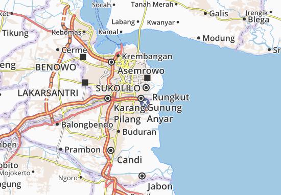 Gunung Anyar Map