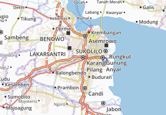 Karang Pilang Map