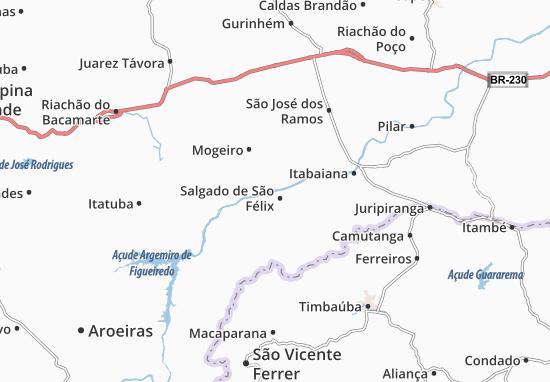 Salgado de São Félix Map