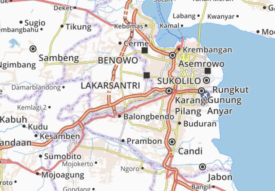Driyorejo Map