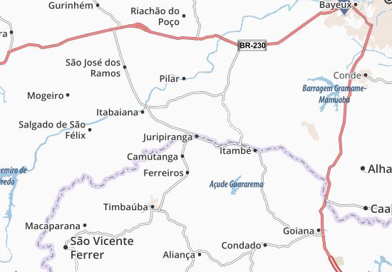 Juripiranga Map