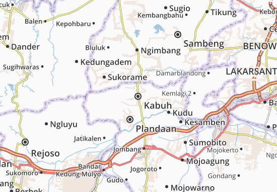 Kabuh Map