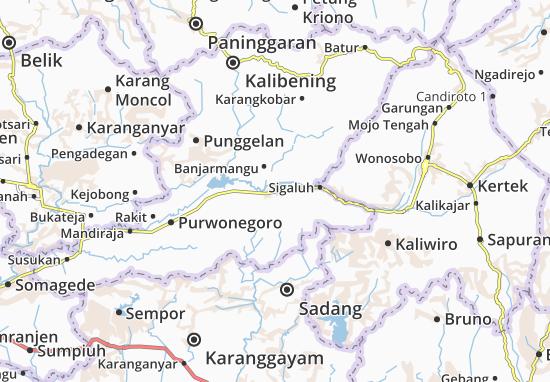 Banjarnegara Map