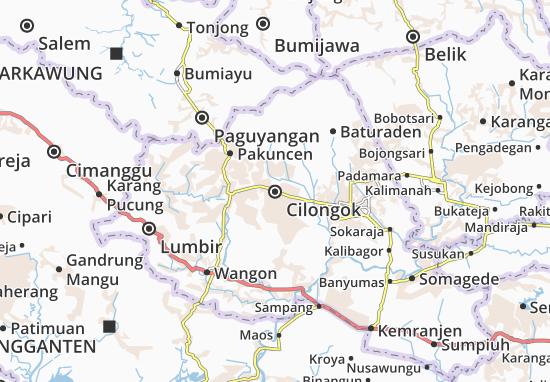 Cilongok Map
