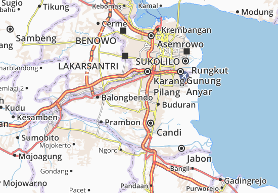 Sukodono Map