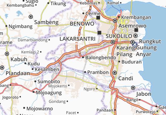 Balongbendo Map