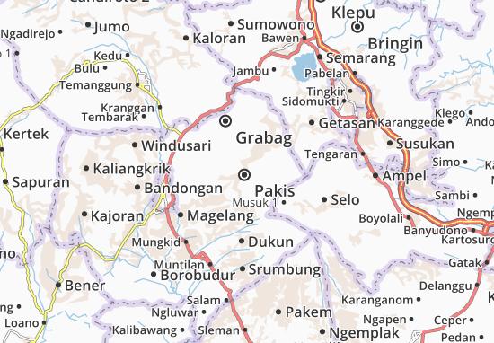 Kaart Plattegrond Pakis