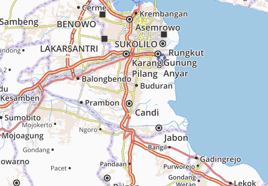 Sidoarjo Map