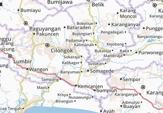 Sokaraja Map