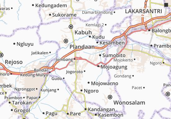 Peterongan Map