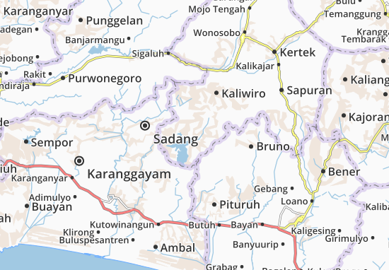 Wadas Lintang 1 Map