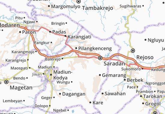 Mejayan Map