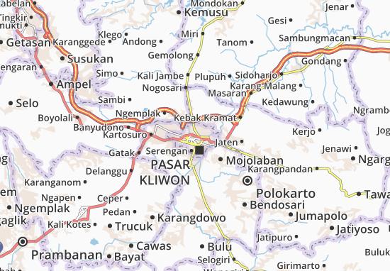 Mappe-Piantine Surakarta