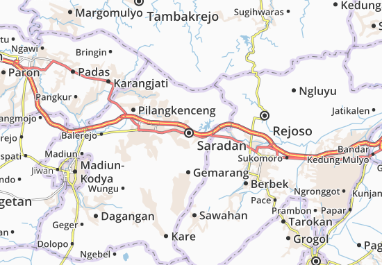 Mapa Saradan