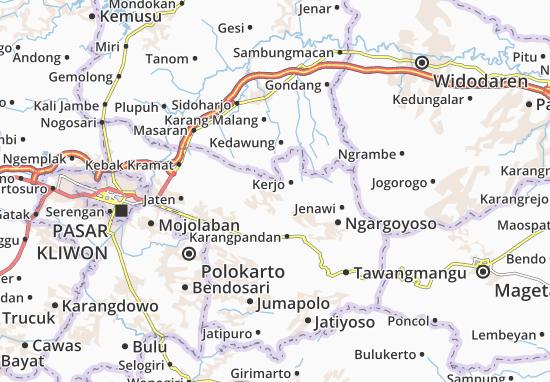 Mappe-Piantine Mojogedang