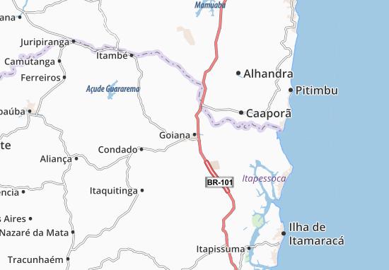 Kaart Plattegrond Goiana