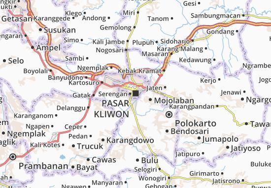 Kaart Plattegrond Pasar Kliwon