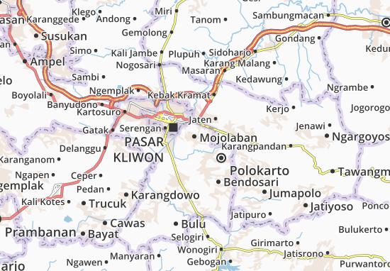 Mojolaban Map