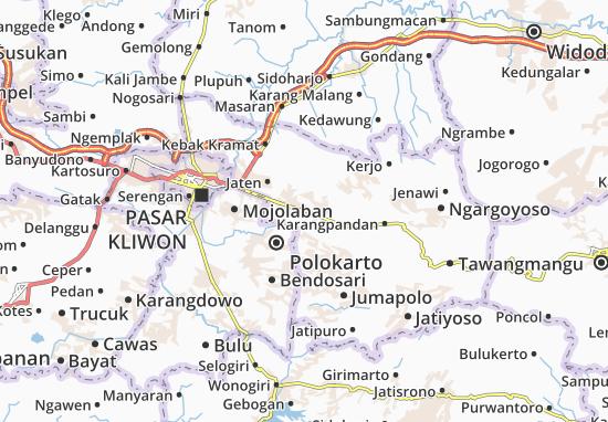 Karanganyar Map