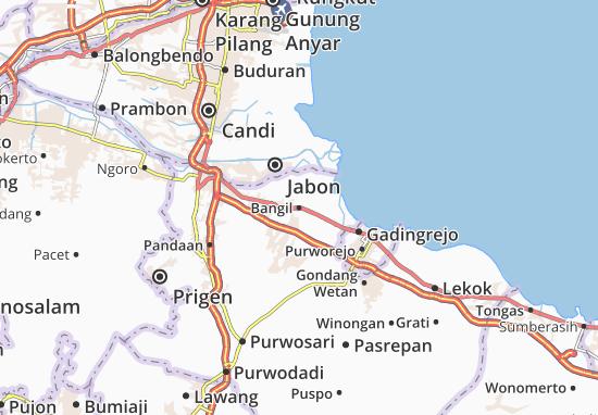 Bangil Map