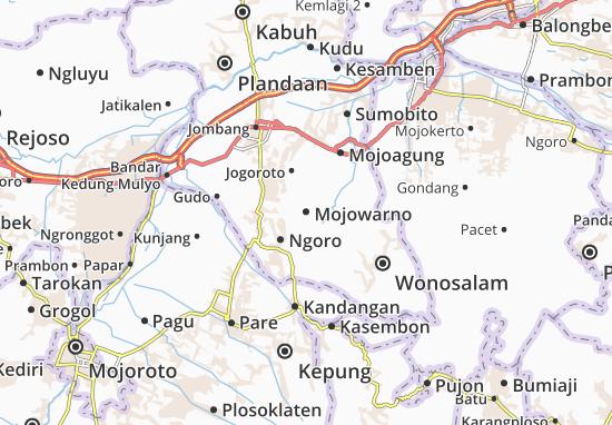 Mojowarno Map