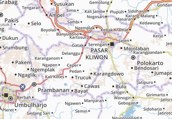 Juwiring Map