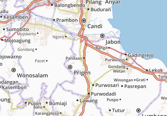 Carte-Plan Pandaan