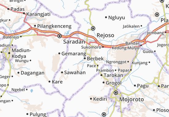 Berbek Map Detailed Maps For The City Of Berbek Viamichelin