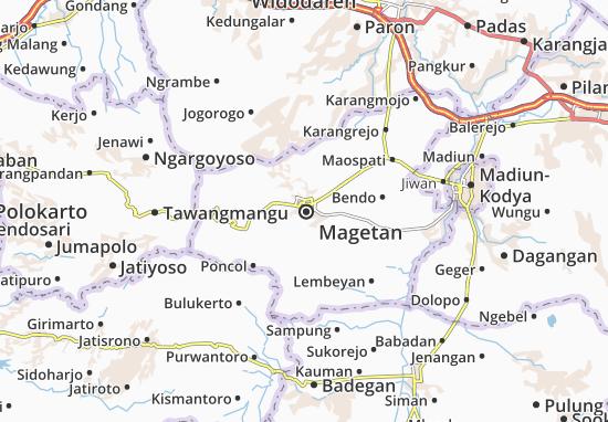 Magetan Map