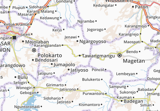 Tawangmangu Map