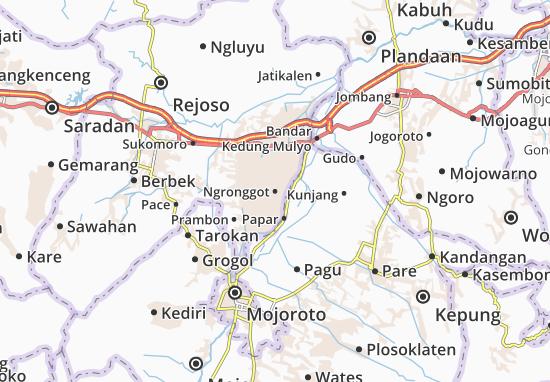 Ngronggot Map