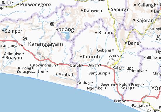 Pituruh Map