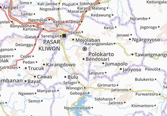 Bendosari Map