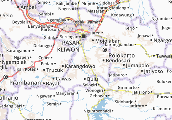 Sukoharjo Map