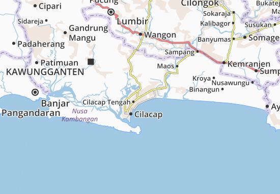 Cilacap Utara Map