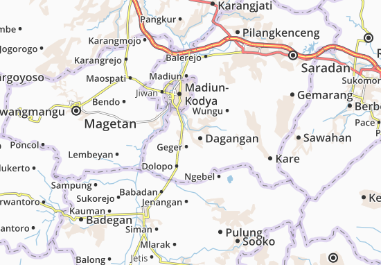 Dagangan Map