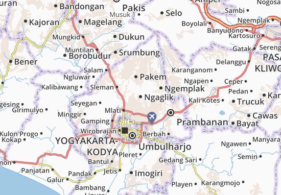 Mapa Ngaglik