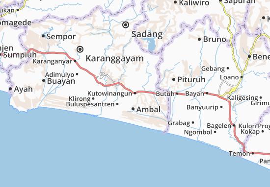 Kutowinangun Map