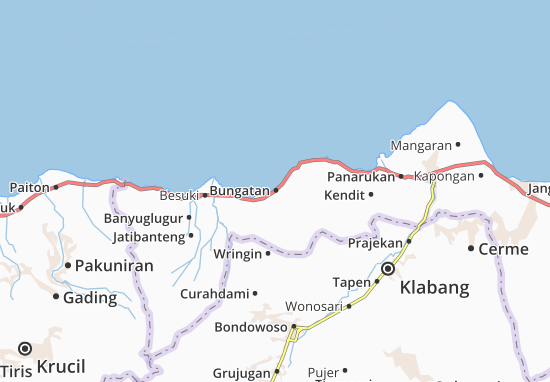 Bungatan Map