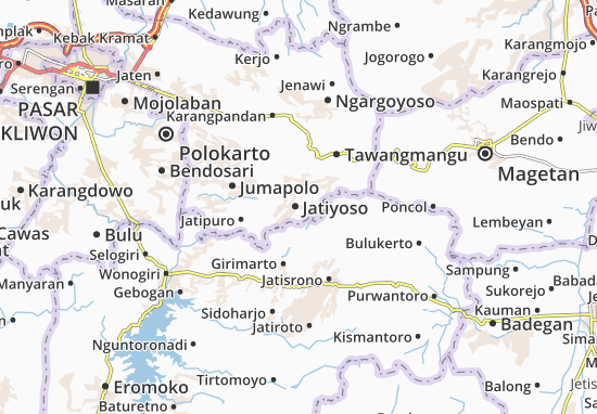 Jatiyoso Map