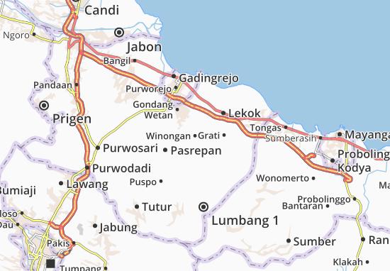 Winongan Map