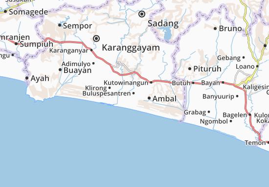 Buluspesantren Map