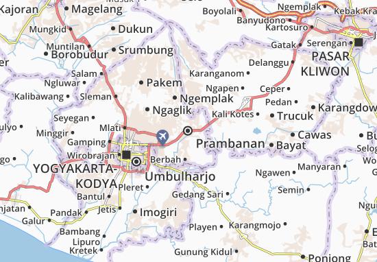 Mapas-Planos Prambanan
